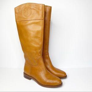 Franco Sarto Hudson Cognac Leather Riding Boots